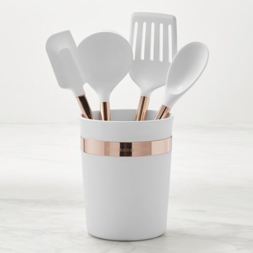 Silicone 5-Piece Tools with Copper Handles Set