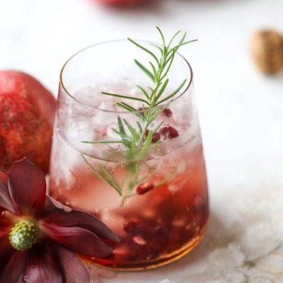 Pomegranate Prosecco Smash