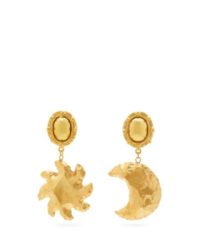 SYLVIA TOLEDANO  Mismatched moon and star clip earrings  $203