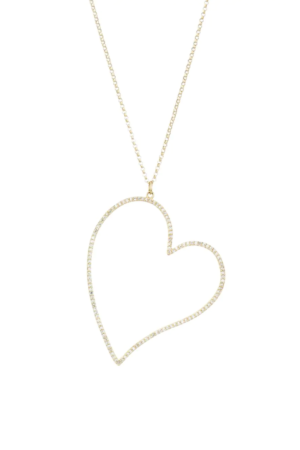 NINA GILIN  14K Yellow Gold & Diamond Heart Pendant Necklace  SOLD OUT