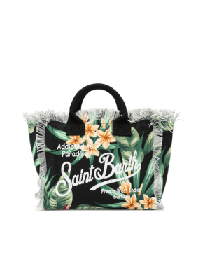 MC2 SAINT BARTH  tropical leaves canvas small bag  $85