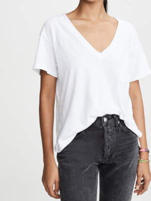 LNA  deep v pocket tee  $84