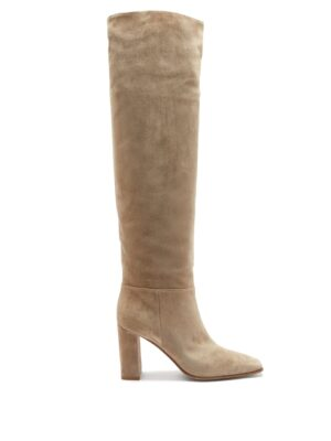 knee high suede boot