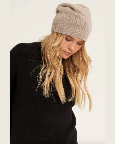 NAKEDCASHMERE  pat beanie  $85