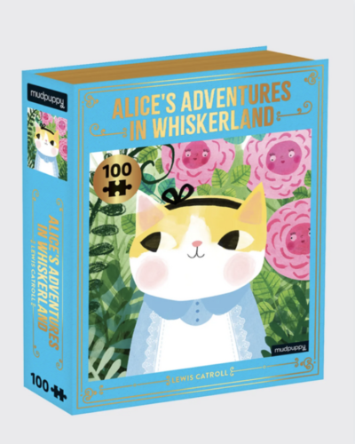 CHRONICLE BOOKS  Alice's Adventures in Whiskerland Puzzle  $15