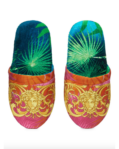 VERSACE  Medusa Leaf Bath Slippers 4.8 out of 5 Customer Rating  $150