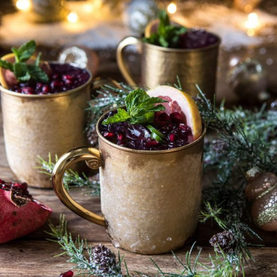 Spicy Pomegranate Moscow Mule